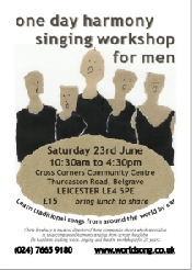 Men's harmony workshop flier